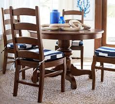 Dining Room Side Chairs Tivoli Pedestal Dining Table 4 Side Chairs Pottery Barn