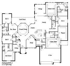 5 bedroom floor plans 1 story 5 bedroom luxury house plans homes floor plans