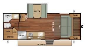 travel trailer floor plan 2018 launch outfitter 7 19mbs