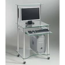 zani petit bureau design en verre transparent achat vente bureau