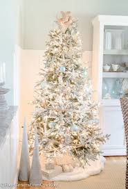 flockedstmas trees white best tree decorations ideas