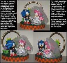 sonic the hedgehog cake topper commission sonic themed wedding cake topper by wakeangel2001 on