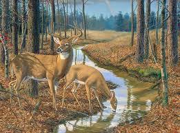 Deer Wall Decor Deer Wall Decor Deer Hunting Canvas Art Large Deer Painting