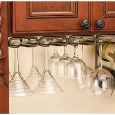 kitchen cabinet with wine glass rack stemware storage kitchen cabinet organizers the home depot