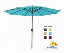 9 ft patio market umbrella navy blue outside turquoise inside