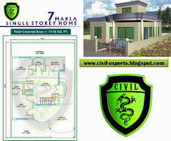 civil experts 7 marla house plans