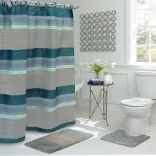 Grey Bathroom Rug by Bath Fusion Regent Stripe 30 In L X 18 In W 15 Piece Bath Rug