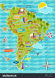 Maps Of South America Cartoon Map South America Stock Vector 131749259 Shutterstock