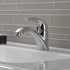 One Hole Bathroom Faucet by Delta C Spout Series Single Hole Bathroom Faucet With Single