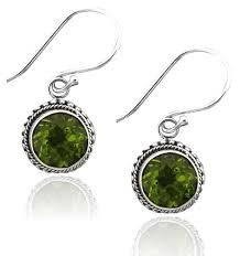 peridot earrings sterling silver 925 8mm peridot earrings