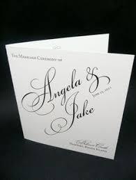 Wedding Program Covers Letterpress Wedding Program Covers U2013 Mini Bridal