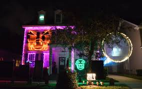 purple halloween lights