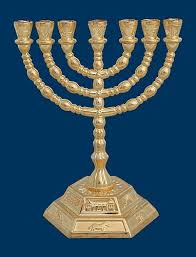 7 candle menorah menorah seven branch menorah gold plated 7 branch candle holder