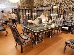 luxury dining room sets new item luxury black silver plated colour new european style