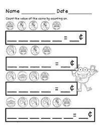 free math money worksheets adding pennies nickels dimes k