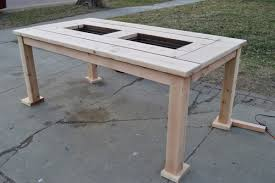 Build Cheap Patio Furniture by Make Your Own Patio Table With Built In Ice Boxes Homes And Hues
