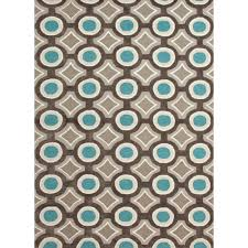 Geometric Area Rug by 5x7 Area Rugs Adgo Collection Modern Live Brown And Beige Trellis