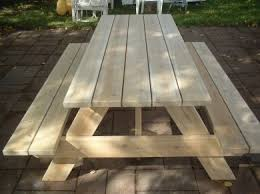 Plans For Picnic Table With Attached Benches by Cedar Picnic Tables Free Shipping