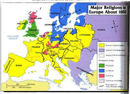 The Map Of Europe The Reformation Religious Map Of Europe 1600 Thefreebiedepot