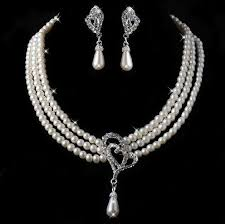 necklace pearl set images Necklace earring wedding dress jewelry sets pearl set for sale jpg