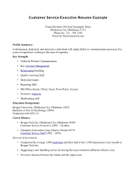 exle of customer service resume sle resume for customer service fitted pictures executive 6