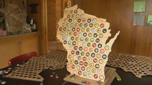 Show Me A Map Of Wisconsin by Wooden Maps Show Off Bottle Cap Collections Wisconsin Life