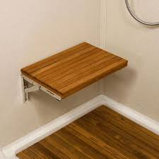 teakworks4u wall mount fold teak shower bench mounts directly