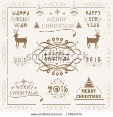 merry happy new year wishes stock vector 334483589