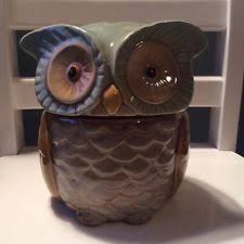 owl canisters for the kitchen gibson kitchen cookie jars ebay