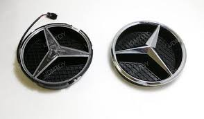 install mercedes led illuminated grille emblem
