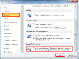 how to create an outlook address book in 2013 how to disable suggested contacts in microsoft outlook