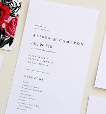 classic wedding programs simple wedding program wedding program classic wedding