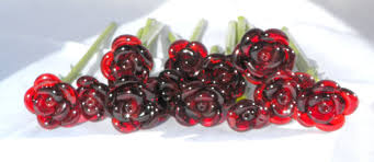 glass roses crafted set of 12 stemmed glass roses untamed roses