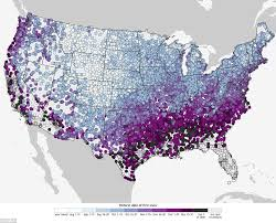 noaa maps reveal the days of snow across the us daily mail