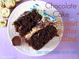 chocolate cake with peanut butter filling crazy for crust