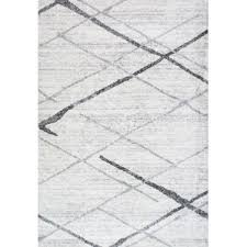 Black And Gray Area Rug Modern Gray U0026 Silver Area Rugs Allmodern