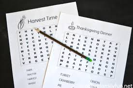 printable thanksgiving word searches for creative family