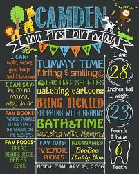 1st birthday chalkboard birthday chalkboard poster safari birthday chalkboard