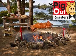 Fire Pit Rotisserie by Amazon Com Pigout Roasters The Ultimate Charcoal Pig Rotisserie