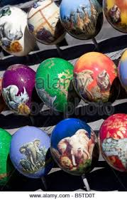 decorated eggs for sale decorated ostrich eggs for sale cape point south africa stock