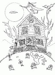 Haunted House Halloween Coloring Pages Middle School Hallowen Coloring Pages Middle School