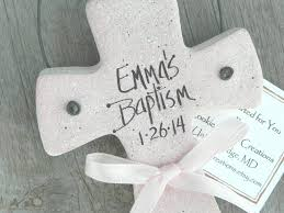 personalized baptism ornament personalized cross salt dough ornament baptism christening favor
