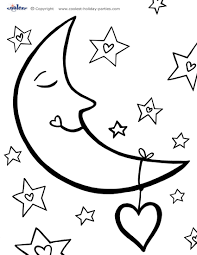 coloring pages stars moons coloring pages