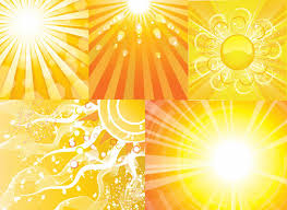 elements of sun of light beam backgrounds free vector in