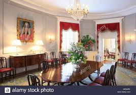 dining room executive mansion richmond virginia usa stock