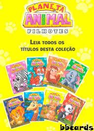 Famosos 8 Livros Ilustrados Planeta Animal Filhotes 5 Kits Iguais - R$ 39  #TC58