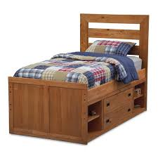 kids captain bed bedroom brown stained wooden boys captain bed with tall headboard