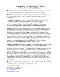 Veterinarian Resume Examples Cover Letter Veterinary Resume Examples Veterinary Technician