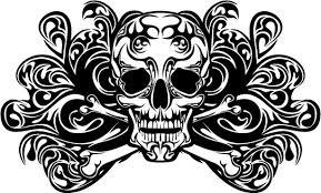 skull ornament free vector tshirt design illustration free vector