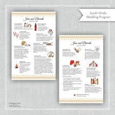 hindu wedding program downloadable hindu wedding program by heartseets on etsy